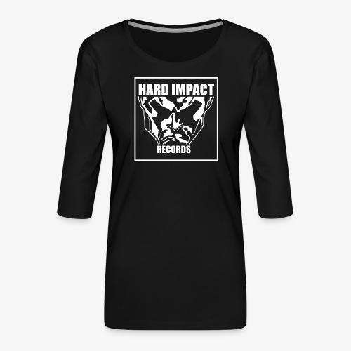 Hard Impact Records - Maglietta da donna premium con manica a 3/4