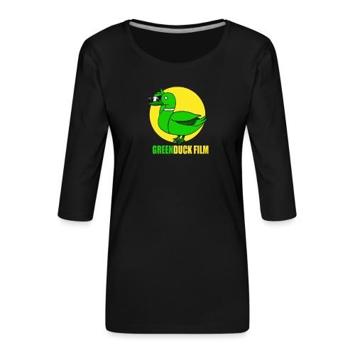 Greenduck Film In the Sun Logo - Dame Premium shirt med 3/4-ærmer
