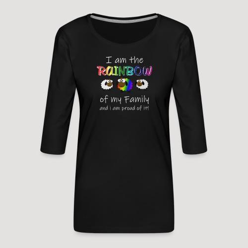 Rainbow Sheep - Frauen Premium 3/4-Arm Shirt
