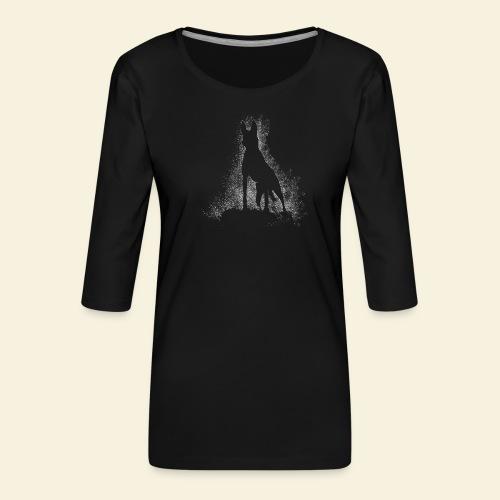 Dog Silhouette - Frauen Premium 3/4-Arm Shirt