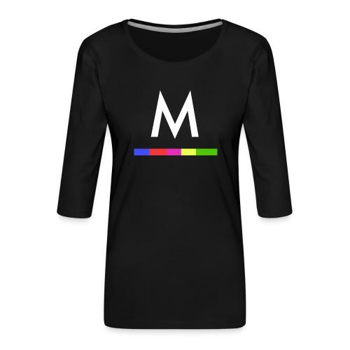 Metro - Camiseta premium de manga 3/4 para mujer