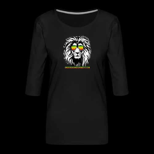 RASTA REGGAE LION - Frauen Premium 3/4-Arm Shirt