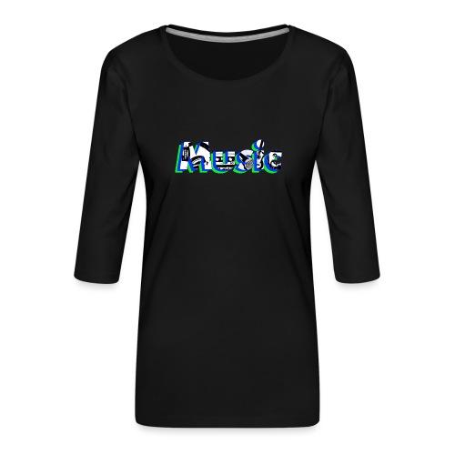 Music - T-shirt Premium manches 3/4 Femme