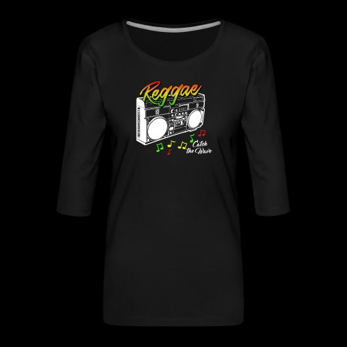 Reggae - Catch the Wave - Frauen Premium 3/4-Arm Shirt