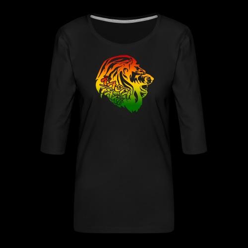 RASTA FARI LION - Frauen Premium 3/4-Arm Shirt