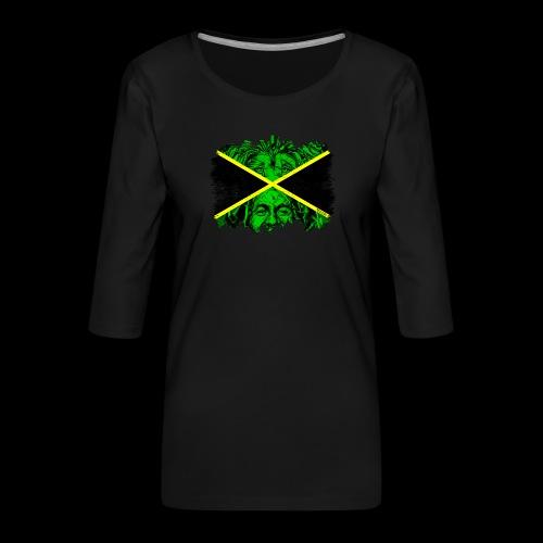 LION BOB JAMAICA - Frauen Premium 3/4-Arm Shirt