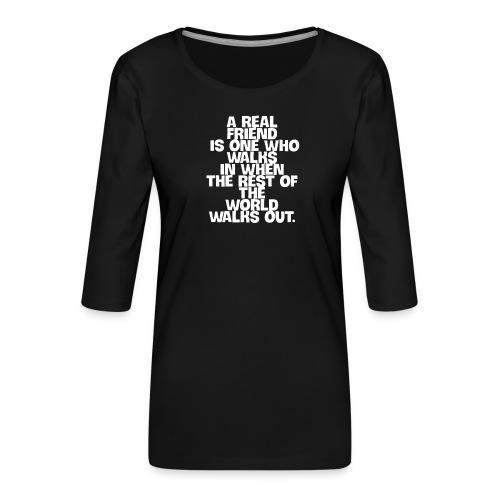 real freund - Frauen Premium 3/4-Arm Shirt