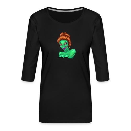 Sexy Zombie - Maglietta da donna premium con manica a 3/4