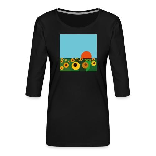 Sunflower - Women's Premium 3/4-Sleeve T-Shirt
