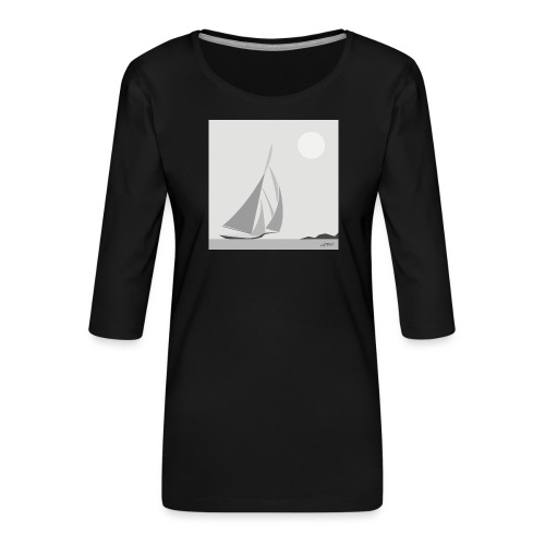sailing ship - Women's Premium 3/4-Sleeve T-Shirt