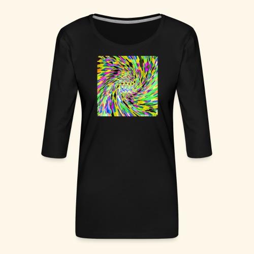Vortice psichedelico - Maglietta da donna premium con manica a 3/4