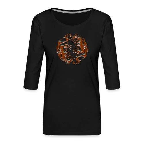 House of dragon - Camiseta premium de manga 3/4 para mujer