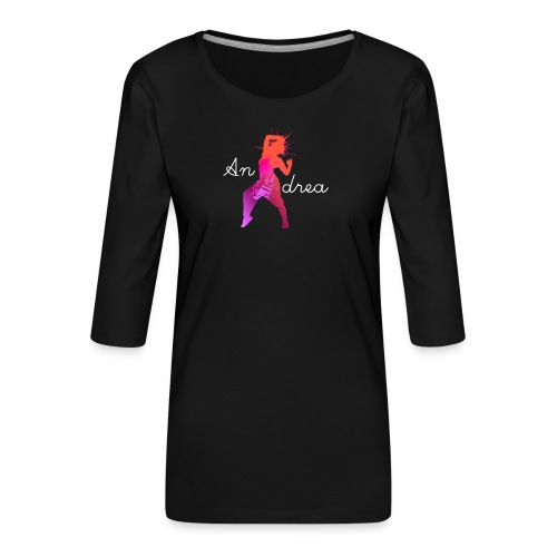 Andrea - Frauen Premium 3/4-Arm Shirt