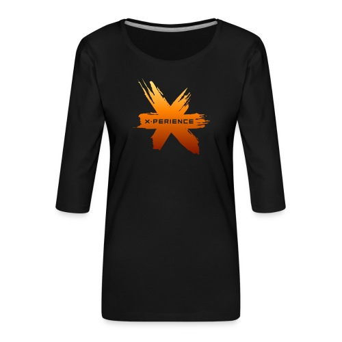 X-Perience Orange Logo - Frauen Premium 3/4-Arm Shirt