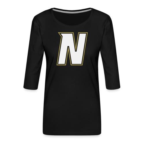 Nordic Steel WHITE N - Women's Premium 3/4-Sleeve T-Shirt