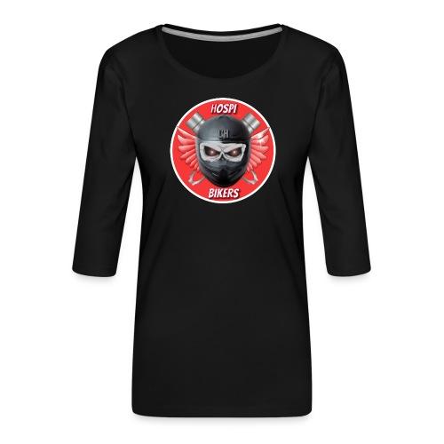 logo hospibikers - Camiseta premium de manga 3/4 para mujer