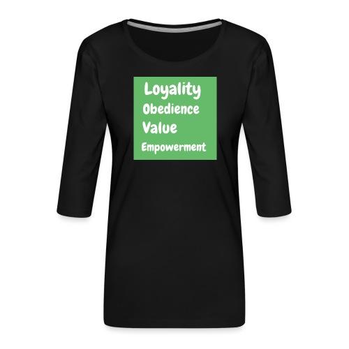 loyality - Premium-T-shirt med 3/4-ärm dam