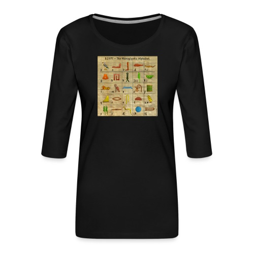 The Hieroglyphic Alphabet - Frauen Premium 3/4-Arm Shirt