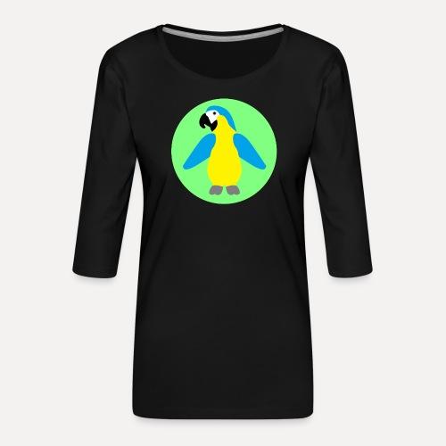 Yellow-breasted Macaw - Women's Premium 3/4-Sleeve T-Shirt
