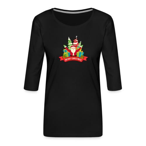 Santa Claus - Camiseta premium de manga 3/4 para mujer