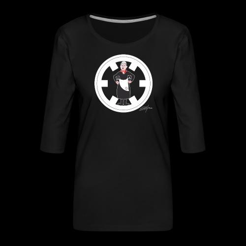 PC33 madre mine records tapes la señora logo - Camiseta premium de manga 3/4 para mujer