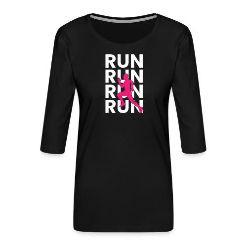 RUN - Frauen Premium 3/4-Arm Shirt