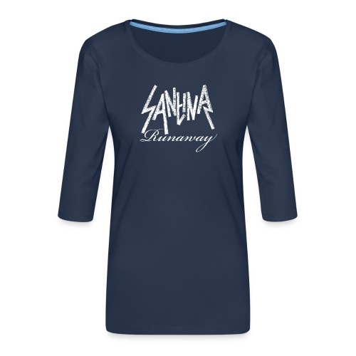 SANTINA gif - Women's Premium 3/4-Sleeve T-Shirt
