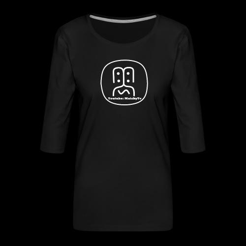 MaickyTv Logo Weiß - Frauen Premium 3/4-Arm Shirt