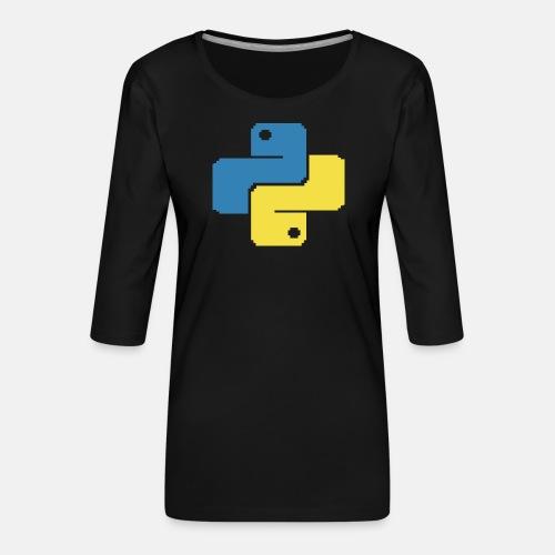 Python Pixelart - Women's Premium 3/4-Sleeve T-Shirt