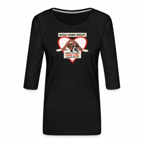 Hundeblick - Frauen Premium 3/4-Arm Shirt