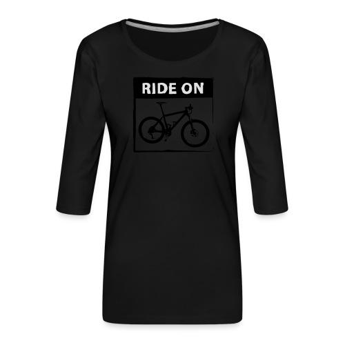 Ride On MTB - 2C - Frauen Premium 3/4-Arm Shirt