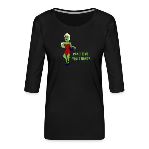 give a hand - Women's Premium 3/4-Sleeve T-Shirt