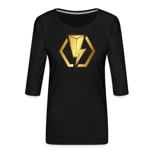 00405 Blitz dorado - Camiseta premium de manga 3/4 para mujer