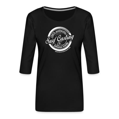 SURF CASTING - Maglietta da donna premium con manica a 3/4