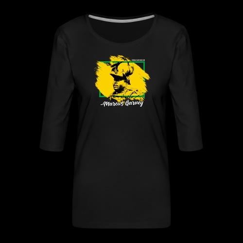 MARCUS GARVEY by Reggae-Clothing.com - Frauen Premium 3/4-Arm Shirt
