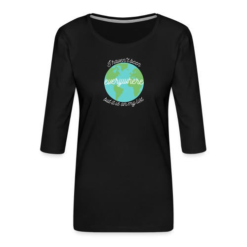Travel the World - Premium-T-shirt med 3/4-ärm dam