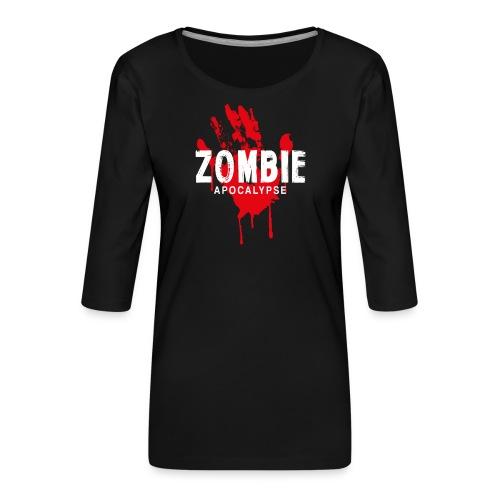 Zombie Apocalypse - Premium-T-shirt med 3/4-ärm dam