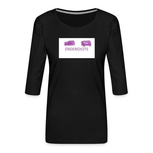 enderproductions enderidiots design - Women's Premium 3/4-Sleeve T-Shirt