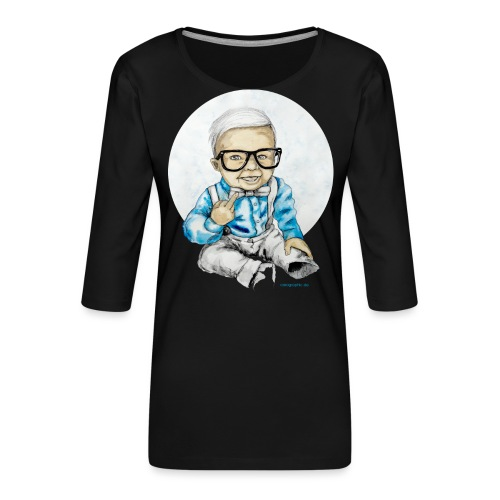 Naughty Boy, carographic - Frauen Premium 3/4-Arm Shirt