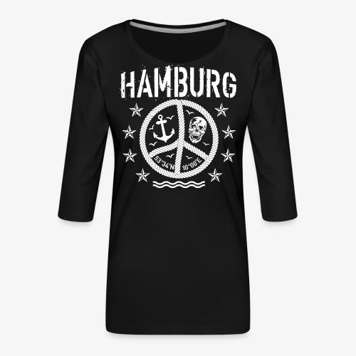 105 Hamburg Peace Anker Seil Koordinaten - Frauen Premium 3/4-Arm Shirt
