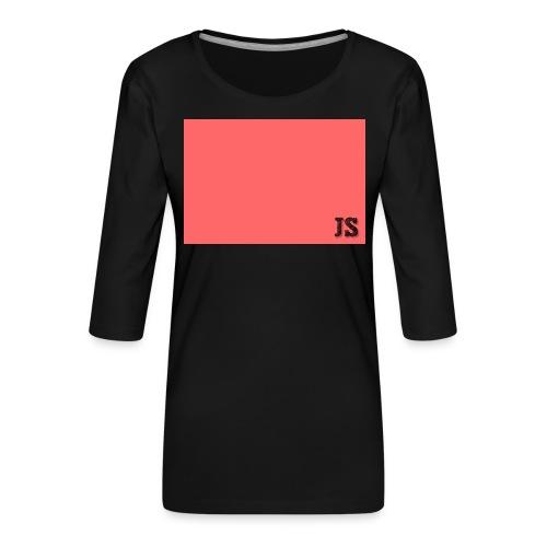 JustSquares Roze - Vrouwen premium shirt 3/4-mouw