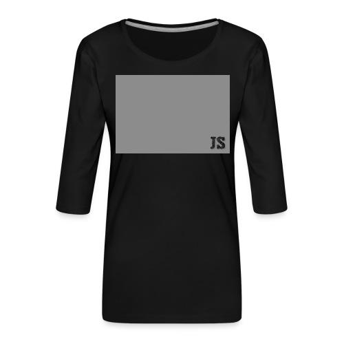 JustSquares Grijs - Vrouwen premium shirt 3/4-mouw