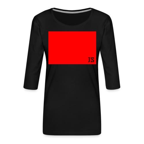 JustSquares Rood - Vrouwen premium shirt 3/4-mouw