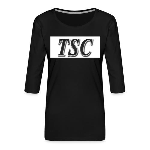 TSC Black Text - Women's Premium 3/4-Sleeve T-Shirt