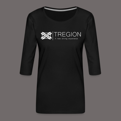 Tregion Logo wide - Women's Premium 3/4-Sleeve T-Shirt