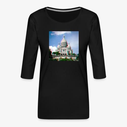SacreCoeur Anaglyph - Frauen Premium 3/4-Arm Shirt