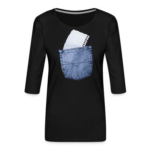 Jeans Baggy by #OneCreativeArts - Frauen Premium 3/4-Arm Shirt