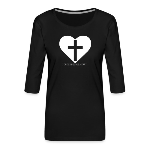 CEH_white.png - Premium-T-shirt med 3/4-ärm dam