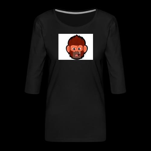 pogo clan Buttons & badges - Dame Premium shirt med 3/4-ærmer