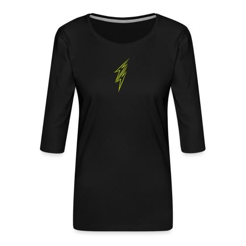 fulmine - Maglietta da donna premium con manica a 3/4